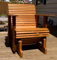 FREE GIVE AWAY 40 PLANS Check out rocking chair woodworking plans Showcasing Top rocking chair woodworking plans Outdoor Glider Chair, Outdoor Rocking Chairs, Deck Chairs, Outdoor Furniture Plans, Deck Furniture, Furniture Gliders, Modern Furniture, Furniture Design, Woodworking Projects That Sell