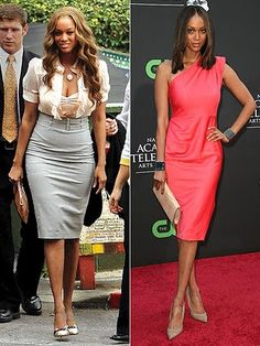 celebrity before and after weight loss - Tyra Banks