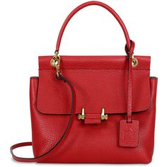 Lanvin Essential Top Mini Leather Shoulder Bag - Red (42,040 PHP) ❤ liked on Polyvore featuring bags, handbags, shoulder bags, lanvin handbags, mini purse, leather purses, red purse and real leather handbags