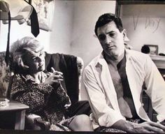 """Doris Day and Rock Hudson on the set of """"Lover Come Back"""" (1961)."""