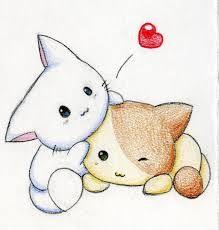 Cute Anime Cat Drawing Cats Are Soooo Cute My Girl
