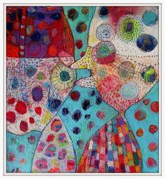 Elke Trittel acrylic on paper 25c25cm