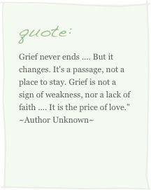 Saturday's Sayings - To Grieve is To Endure...