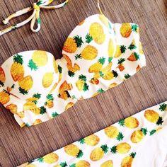Pineapple swimsuit, we love fun summer prints! :: Pineapple Bikini:: Retro Summer Patterns