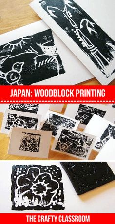 Woodblock painting instructions for kids. Japanese Crafts for children. Sumi-e painting for children. Free crafts and activities for children to learn about Japan. Japan For Kids, Art For Kids, Projects For Kids, Art Projects, Crafts For Kids, Kids Diy, Vinyl Projects, Fun Craft, Japan Crafts