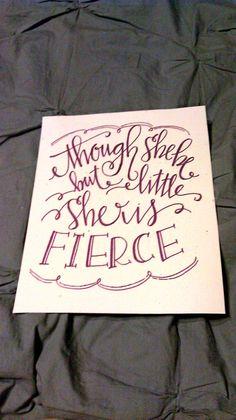 Custom Calligraphy Quote Print. $20.00, via Etsy.