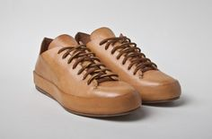 Ridiculously expensive (but awesome) all-leather sneakers from Feit. $477.00