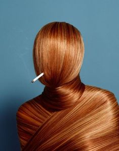 Smoking makes you hairy! Brilliant anti-smoking photography. The image makes me feel suffocated and uncomfortable.