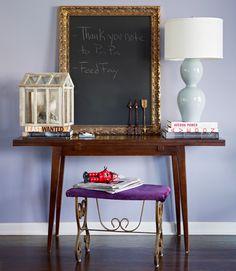 Why not custom frame a chalk board?!?
