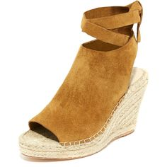 Loeffler Randall Lyra Wedge Espadrilles ($325) ❤ liked on Polyvore featuring shoes and sandals