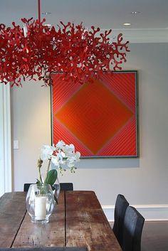"""Boa noite! O destaque de hoje vai para o blog As Arquitetas e seu post """"Escolha suas cores""""! Venha ver mais-> http://www.blogsdecor.com/asarquitetas/escolha-suas-cores/ #vermelho #decor #decoracao #decoracion #arte #art #saladejantar"""