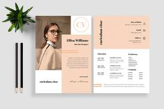 Resume / CV Template by Moving Slides Std on @creativemarket