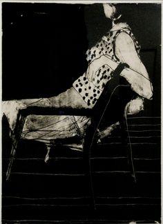Richard Diebenkorn, Seated Woman Wearing a Polka-Dot Blouse, 1967. Lithograph (1922-1993) de Young Museum