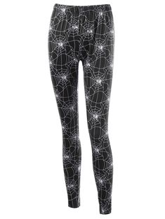 a2438141d5c Halloween Fitted Leggings with Spider Web Print - BLACK XL Cheap Leggings