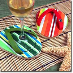 flip flop coasters for the summer