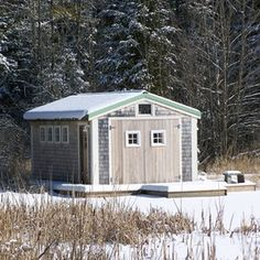 A storage shed can come in handy for storing excess household items.