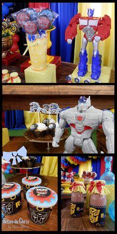 Chamando todos os autobots! Porque o Renatinho completa 5 anos! Festa linda, linda com o tema Transformers. Talvez, um dos maiores desafios...