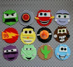 Cars Cupcakes 1st Birthday Themes, Birthday Parties, Cupcake Toppers, Cupcake Cakes, Just Cakes, Cake Designs, Macarons, Cake Decorating, Recipies