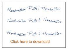 Natural Handwriting with Custom Paths   Digital Scrapper