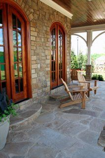 Flagstone Patios  Flagstone tile instead of a concrete slab! Front entrance and back porch!