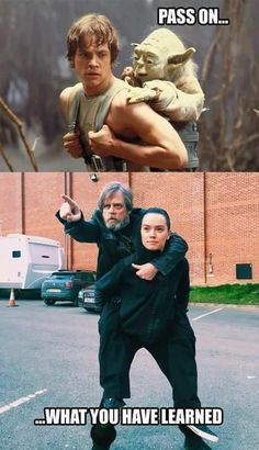 Jedi training hasn't changed much over the years...