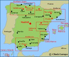 CLIMB-EUROPE Site: Map of the rock climbing, sport climbing and bouldering areas in Spain!! :)