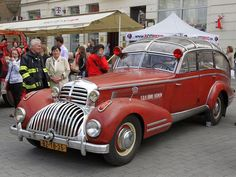 Just a car guy : and then there is this... 1941 Horch 853 Sportcabriolet, some auxiliary fire dept vehicle to deliver extra hoses