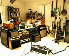 Man Cave Post Your Guitar Rooms Page 5 Harmony Central Music Studio Room