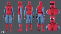 Spiderman Homecoming Homemade Suit by Mattia F. Ruffo on ArtStation. Spiderman Homecoming Suit, Spider Homecoming, Homecoming Suits, Spiderman Outfit, Spiderman Suits, Spiderman Costume, Male Cosplay, Cosplay Costumes, Diy Costumes