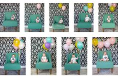 What a fun idea! 1 balloon for every month of age, until 1 year old.
