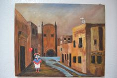 Vintage Mexico City Oil Painting Altered by WhiteHorseRelics09