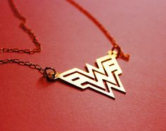 WONDER WOMAN Diana Prince necklace  4 colors by NavekaDesigns