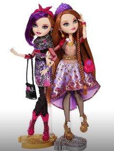New Ever After High. Poppy o hair and her twin sister Holly o hair. Daughters of rapunzel.