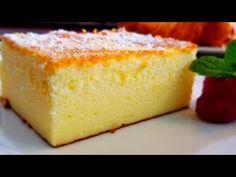 Ingredients: 4 eggs sugar Greek yogurt corn starch baking powder vanilla sugar Baking pan is Tart Recipes, Easy Cake Recipes, Baby Food Recipes, Sweet Recipes, Baking Recipes, Dessert Recipes, Easy Yogurt Cake Recipe, Sweet Light, Cheesecakes