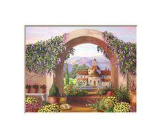 Archway view landscape old worldgarden art by HamiltonArtandDesign, $15.00