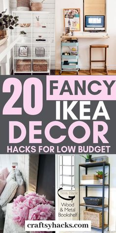 Try these ikea decorating ideas and get ikea furniture on a low budget. Enjoy the ikea decor hacks. Try these ikea decorating ideas and get ikea furniture on a low budget. Enjoy the ikea decor hacks. Ikea Hacks, Ikea Furniture Hacks, Furniture Decor, Ikea Furniture Makeover, Diy Hacks, Ikea White Furniture, Cheap Furniture, Diy Furniture On A Budget, Ikea Organization Hacks