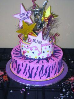 Party Rock Cake | Birthday Cake Theme: Rock Star | Birthday party ideas 7th Birthday, Birthday Parties, Birthday Cake, Birthday Ideas, Rock Star Cakes, Rock Cakes, Rock Star Party, Cupcake Cakes, Cup Cakes