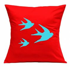 Swallows handmade cushion cover - hardtofind.