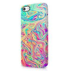 Soap Film Tie Dye Colorful Pale Rad Indie Boho Tumblr iPhone 5 / 5S Hard Plastic Phone Case Cover: Amazon.co.uk: Electronics