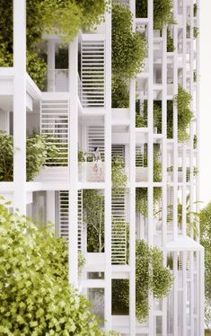 Vijayawada Garden Estate, high-rise residential development, Vijayawada, India, design 2015  © Penda