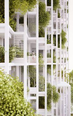 Vijayawada Garden Estate, high-rise residential development, Vijayawada, India, design 2015  © Penda