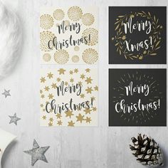 Getting ready for Christmas? Here's a cute & modern xmas cards set