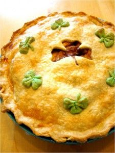 St. Patrick's Day Pie? Love the shamrocks.