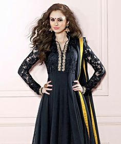 Become the ethnic Diva with the amazing collection of gorgeous suits and sarees from Brijraj! Exhibit elegance and poise in its best form as this range brings to you magnificent designs and colors. Embracing your traditional wear with a hint of contemporary styling, it will truly impress you! BRAND: BrijrajCATEGORY: Unstitched Suit with DupattaARTICLECOLOURMATERIALLENGTHTopBlackPoly Georgette3.00 metersBottomBlackShantoon2.25 metersDupattaBlackChiffon2.50 metersWe would always want to send…
