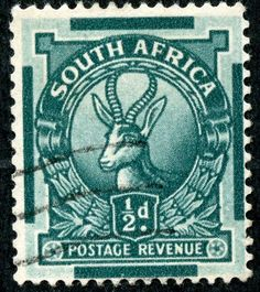 Union of South Africa  1943 Scott 98 (S.G. 105) ½d myrtle green. Photogravure
