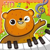 Keys Kids Play HD - Let's play with cute animal characters in 'Animal Piano'. It will be so much fun! You can play comparably complexed chords with 17 keys which let you play even more than 5 notes at a time. Play your favorite songs!     There are 4 different instruments. Piano, violin, harp and flute. You can play together with your friends. Give your kids a chance to form their very first band! Wouldn't it be fantastic?