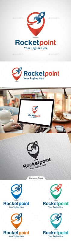 Rocket Point - Logo Design Template Vector #logotype Download it here: http://graphicriver.net/item/rocket-point-logo/10541598?s_rank=1405?ref=nexion