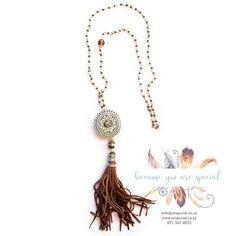 Bohemian beaded necklace