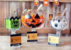Halloween candy jars.