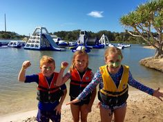 On the weekend we visited Aqua Park Bli Bli for some fun in the sun. Located just ten minutes from Maroochydore, the Aqua Park is a popular #familyholiday activity on the Sunshine Coast, Queensland
